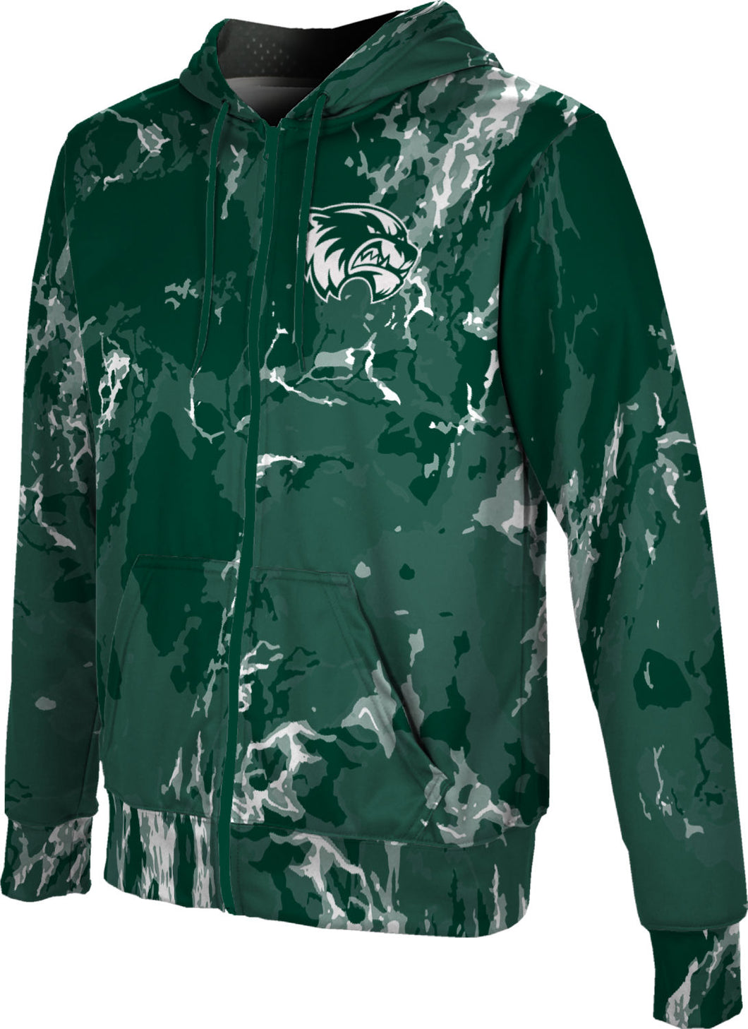Utah Valley University: Men's Full Zip Hoodie - Marble
