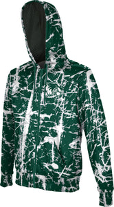 Utah Valley University: Boys' Full Zip Hoodie - Distressed