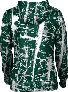 Utah Valley University: Women's Full Zip Hoodie - Distressed