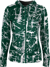 Load image into Gallery viewer, Utah Valley University: Women's Full Zip Hoodie - Distressed