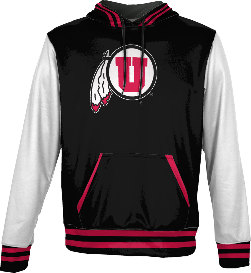University of Utah Men's Pullover Hoodie - Letterman