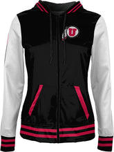 Load image into Gallery viewer, University of Utah: Women's Full Zip Hoodie - Letterman