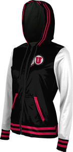 University of Utah: Women's Full Zip Hoodie - Letterman