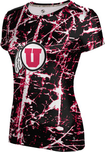 University of Utah: Women's T-shirt - Distressed