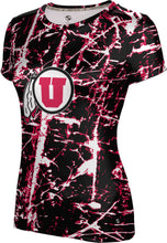Load image into Gallery viewer, University of Utah: Girls' T-shirt - Distressed