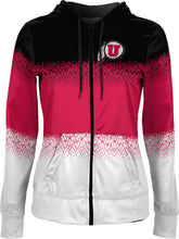 Load image into Gallery viewer, University of Utah: Girls' Full Zip Hoodie - Drip
