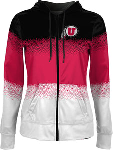 University of Utah: Girls' Full Zip Hoodie - Drip