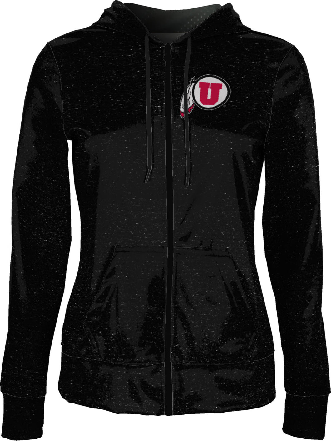 University of Utah: Women's Full Zip Hoodie - Heather