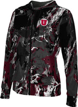 Load image into Gallery viewer, University of Utah: Women's Full Zip Hoodie - Marble