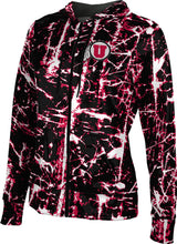 Load image into Gallery viewer, University of Utah: Women's Full Zip Hoodie - Distressed