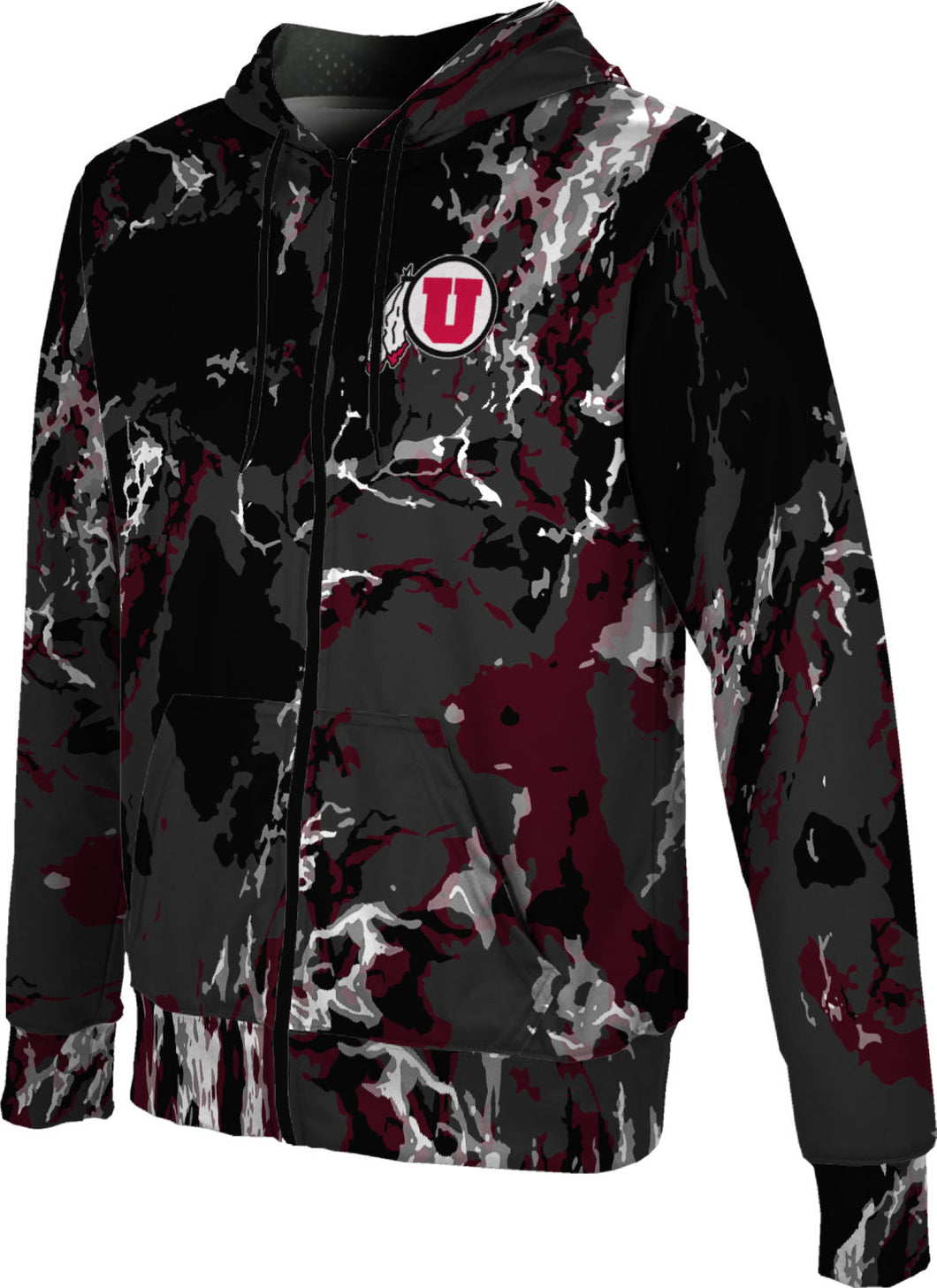 University of Utah: Boys' Full Zip Hoodie - Marble