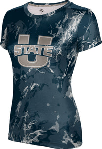 Utah State University: Girls' T-shirt - Marble