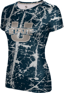 Utah State University: Girls' T-shirt - Distressed