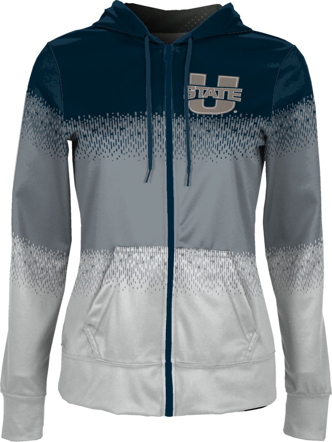Utah State University: Girls' Full Zip Hoodie - Drip