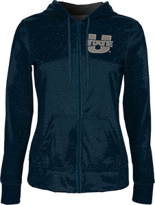 Utah State University: Girls' Full Zip Hoodie - Heather