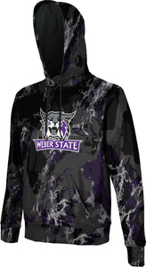 Weber State University: Men's Pullover Hoodie - Distressed