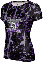 Load image into Gallery viewer, Weber State University: Women's T-shirt - Distressed