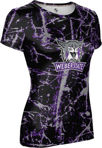 Weber State University: Women's T-shirt - Distressed