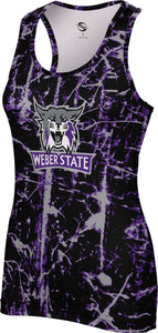 Weber State University: Women's Performance Tank - Distressed