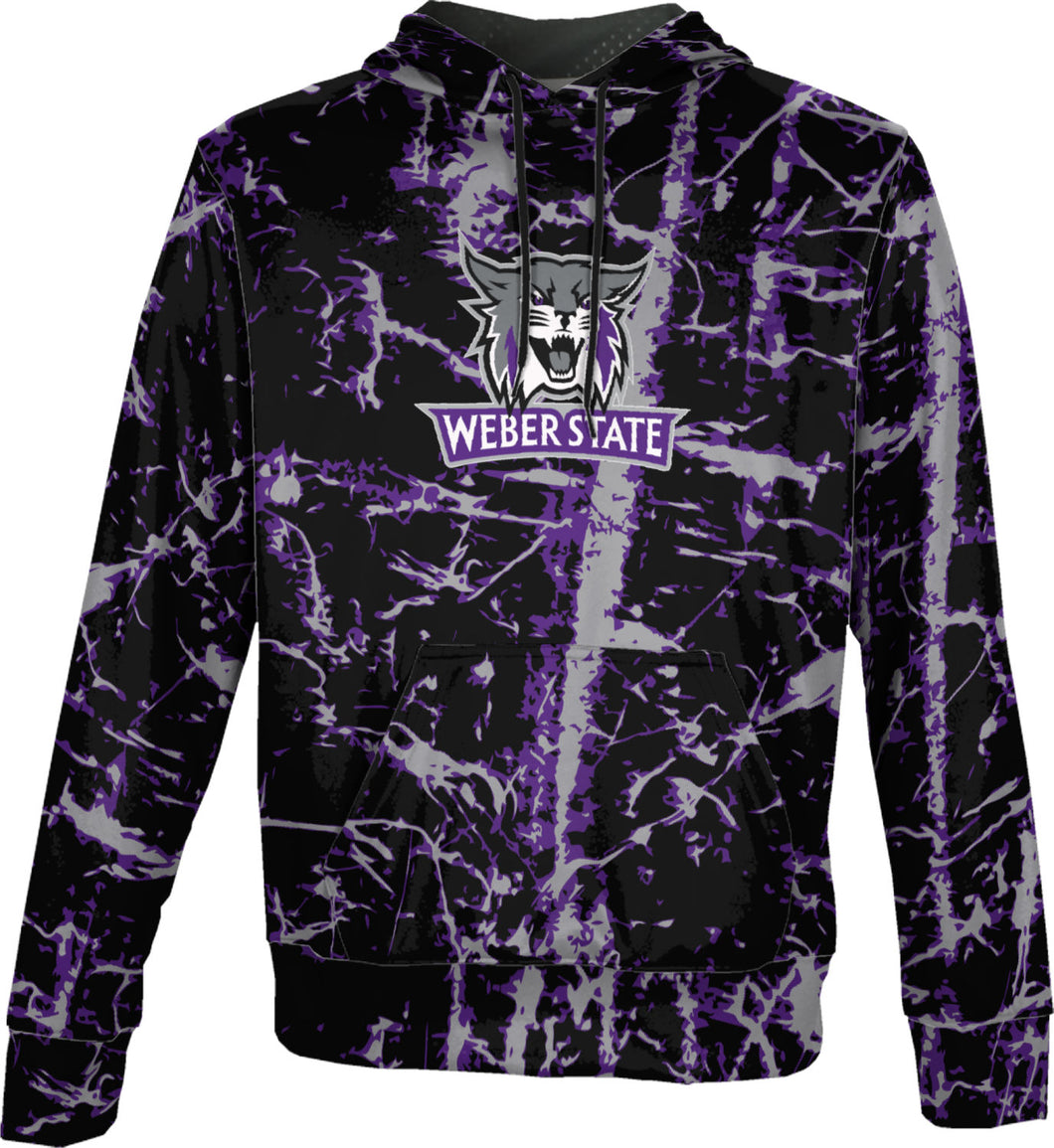 Weber State University: Boys' Pullover Hoodie - Distressed
