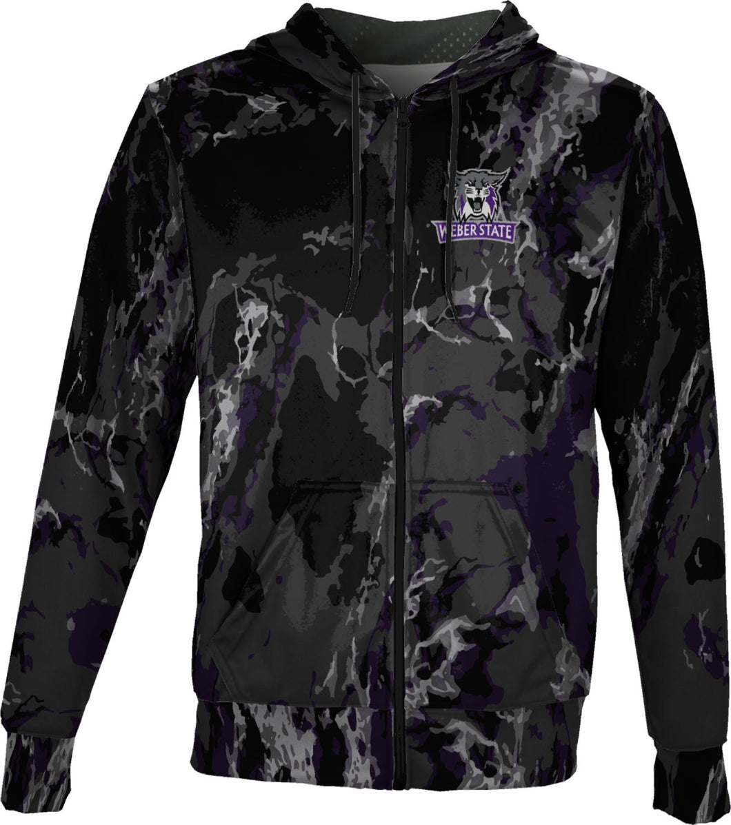 Weber State University: Boys' Full Zip Hoodie - Marble