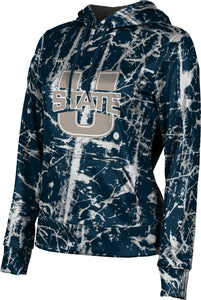 Utah State University: Women's Pullover Hoodie - Distressed
