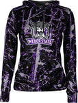 Weber State University: Women's Pullover Hoodie - Distressed