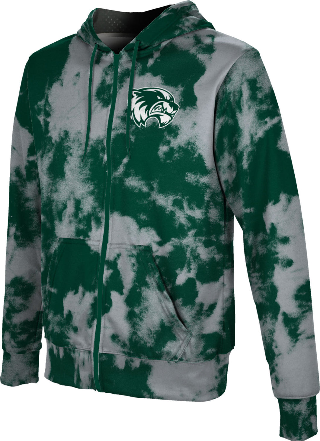 Utah Valley University: Men's Full Zip Hoodie - Grunge