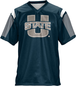 Utah State University: Men's Football Fan Jersey - Thunder Storm
