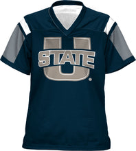 Load image into Gallery viewer, Utah State University: Girls' Football Fan Jersey - Thunderstorm