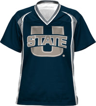Load image into Gallery viewer, Utah State University: Girls' Football Fan Jersey - Wild Horse