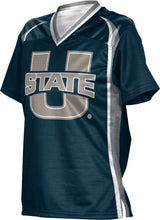Load image into Gallery viewer, Utah State University: Women's Football Fan Jersey - Wild Horse
