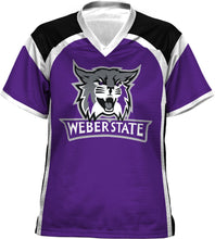 Load image into Gallery viewer, Weber State University: Girls' Football Fan Jersey - Redzone