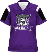 Load image into Gallery viewer, Weber State University: Girls' Football Fan Jersey - Thunderstorm
