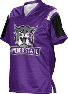 Weber State University: Girls' Football Fan Jersey - Thunderstorm