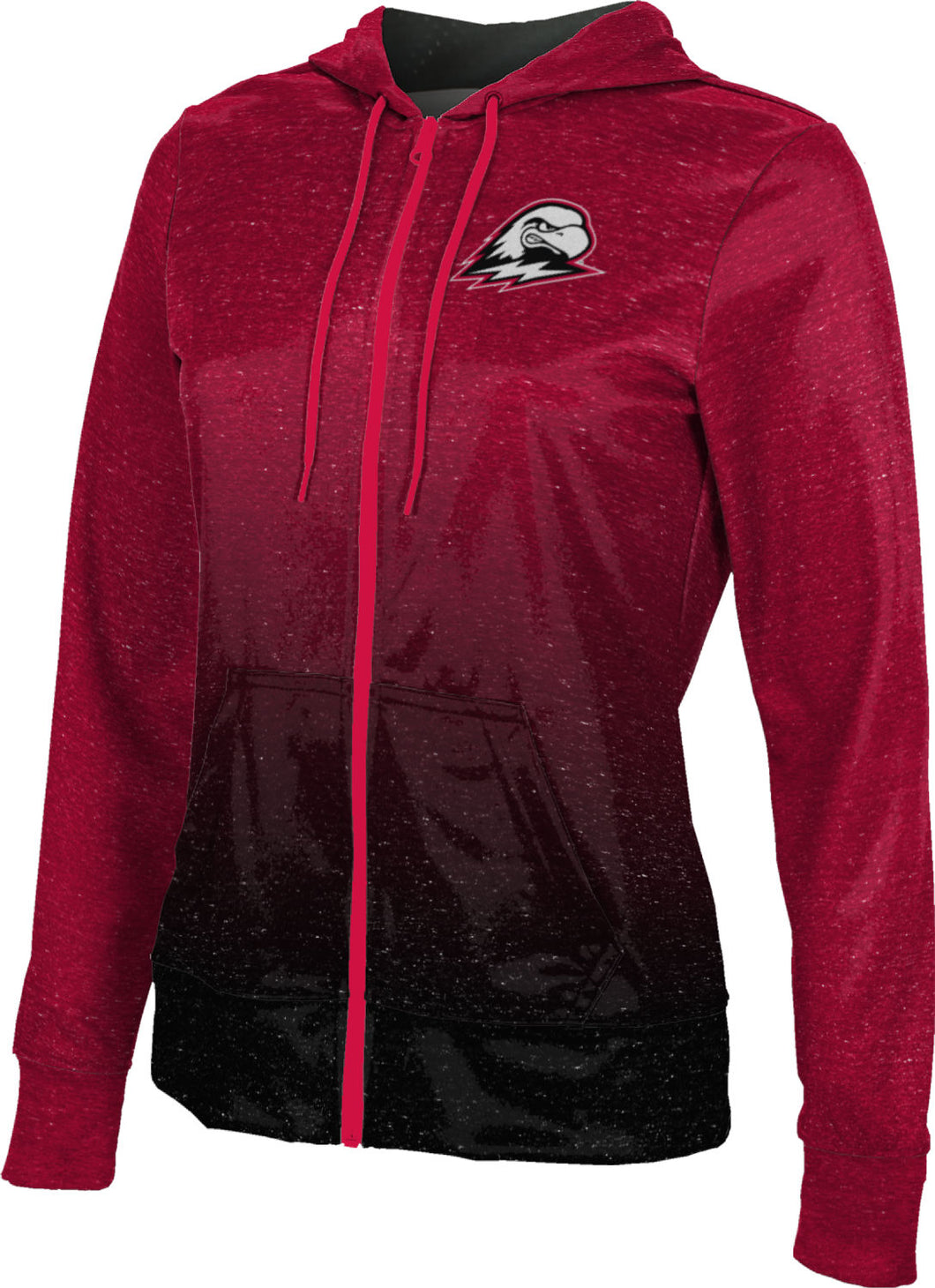 Southern Utah University: Women's Full Zip Hoodie - Ombre