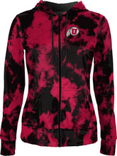 Load image into Gallery viewer, University of Utah: Women's Full Zip Hoodie - Grunge