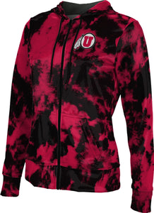 University of Utah: Women's Full Zip Hoodie - Grunge