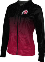 Load image into Gallery viewer, University of Utah: Women's Full Zip Hoodie - Ombre