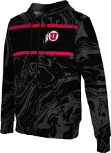 Load image into Gallery viewer, University of Utah: Boys' Full Zip Hoodie - Ripple