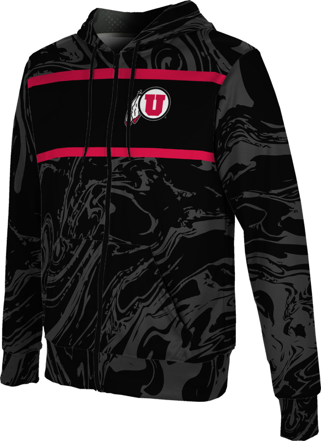 University of Utah: Boys' Full Zip Hoodie - Ripple