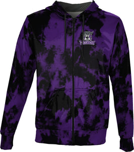 Weber State University: Men's Full Zip Hoodie - Grunge