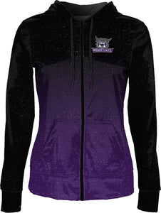 Weber State University: Women's Full Zip Hoodie - Ombre