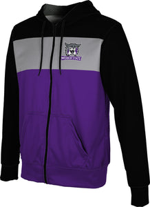 Weber State University: Men's Full Zip Hoodie - Prime