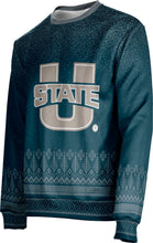 Load image into Gallery viewer, Utah State University: Ugly Holiday Unisex Sweater - Blizzard