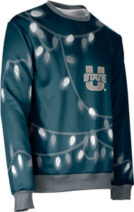 Utah State University: Ugly Holiday Unisex Sweater - Lights