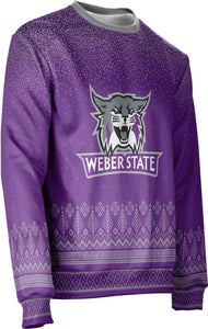Weber State University: Unisex Ugly Holiday Sweater - Blizzard