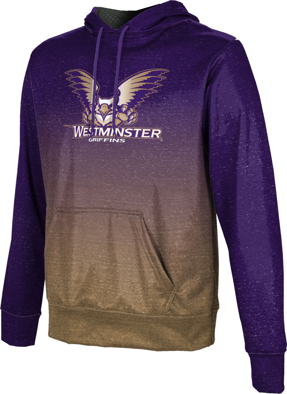 Westminster College: Boys' Pullover Hoodie - Ombre