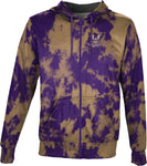 Westminster College: Men's Full Zip Hoodie - Grunge