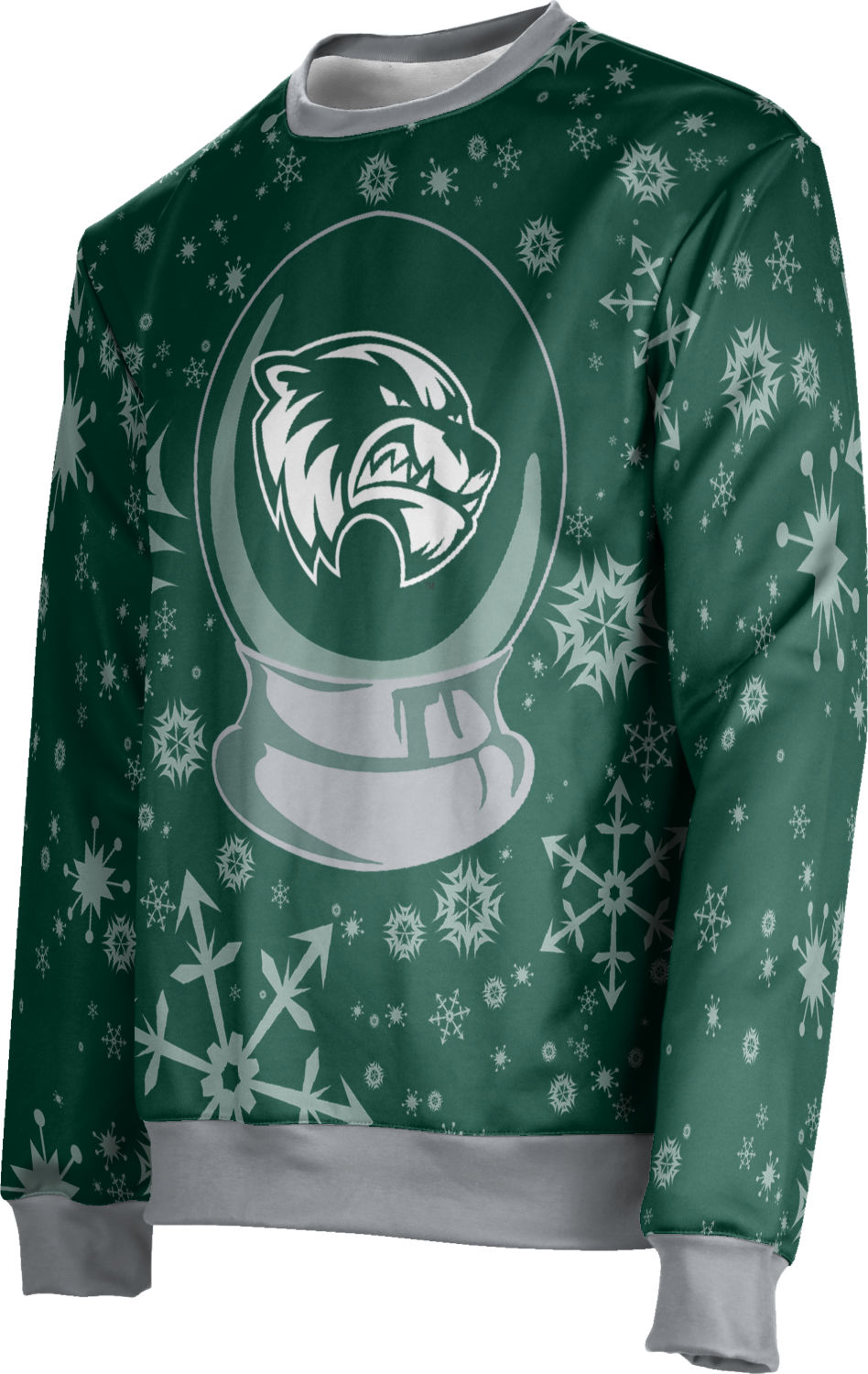 Utah Valley University: Unisex Ugly Holiday Sweater - Snow Globe
